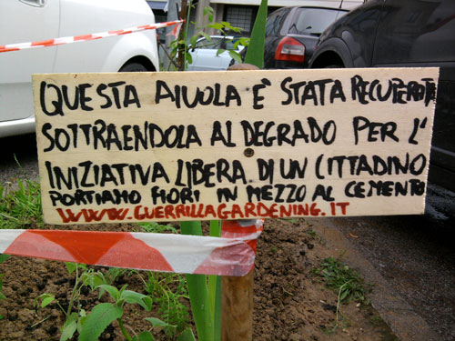 guerrillagardening a pistoia